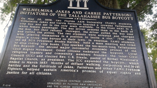 Historical marker on FAMU campus.