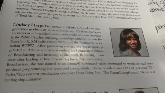 My bio was in the program!