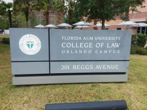 FAMU College of Law sign